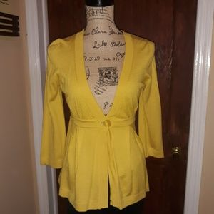 LIFT wool blend shrug sweater, mustard color S